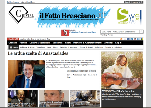 Who is TEss? Bilingual interview in Il Fatto Bresciano